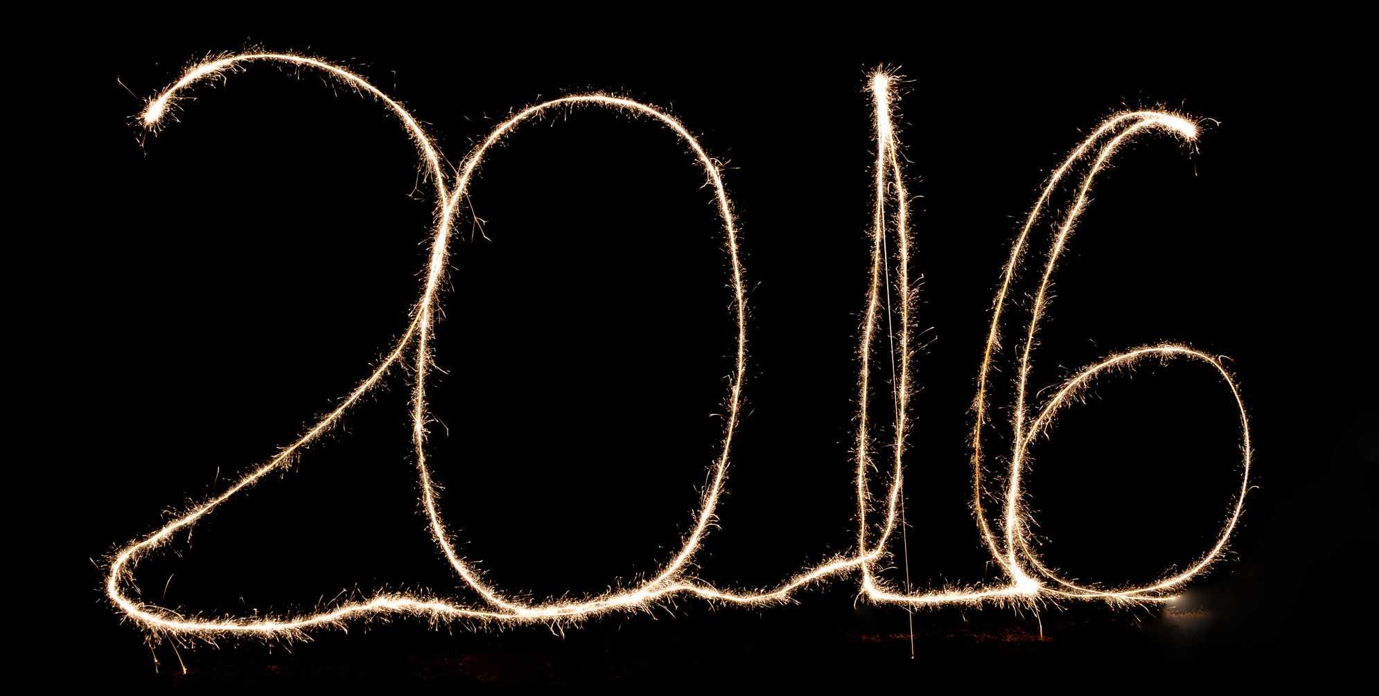 2016 written in a dark sky