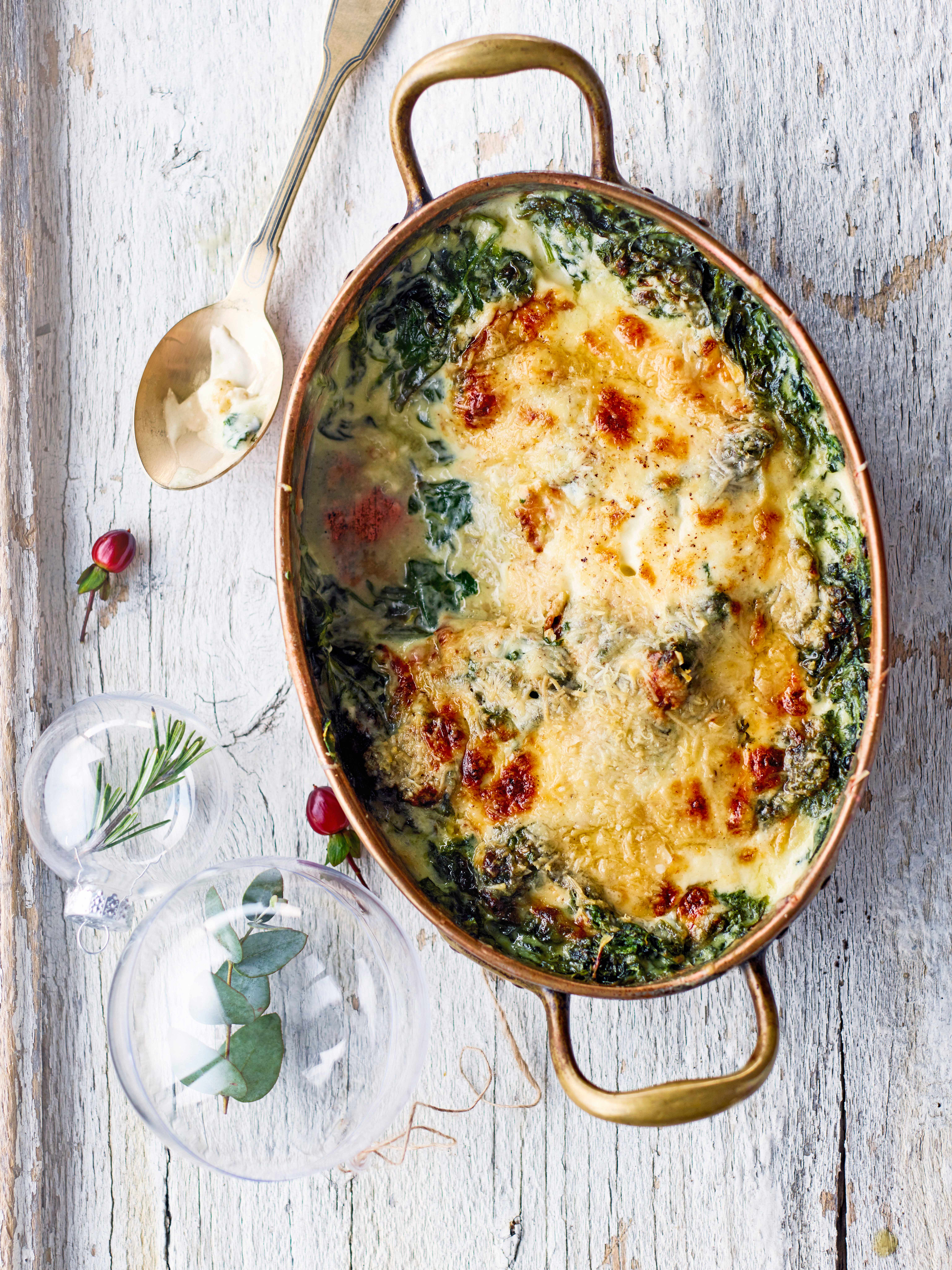Creamed Spinach Recipe With Nutmeg And Gruyère