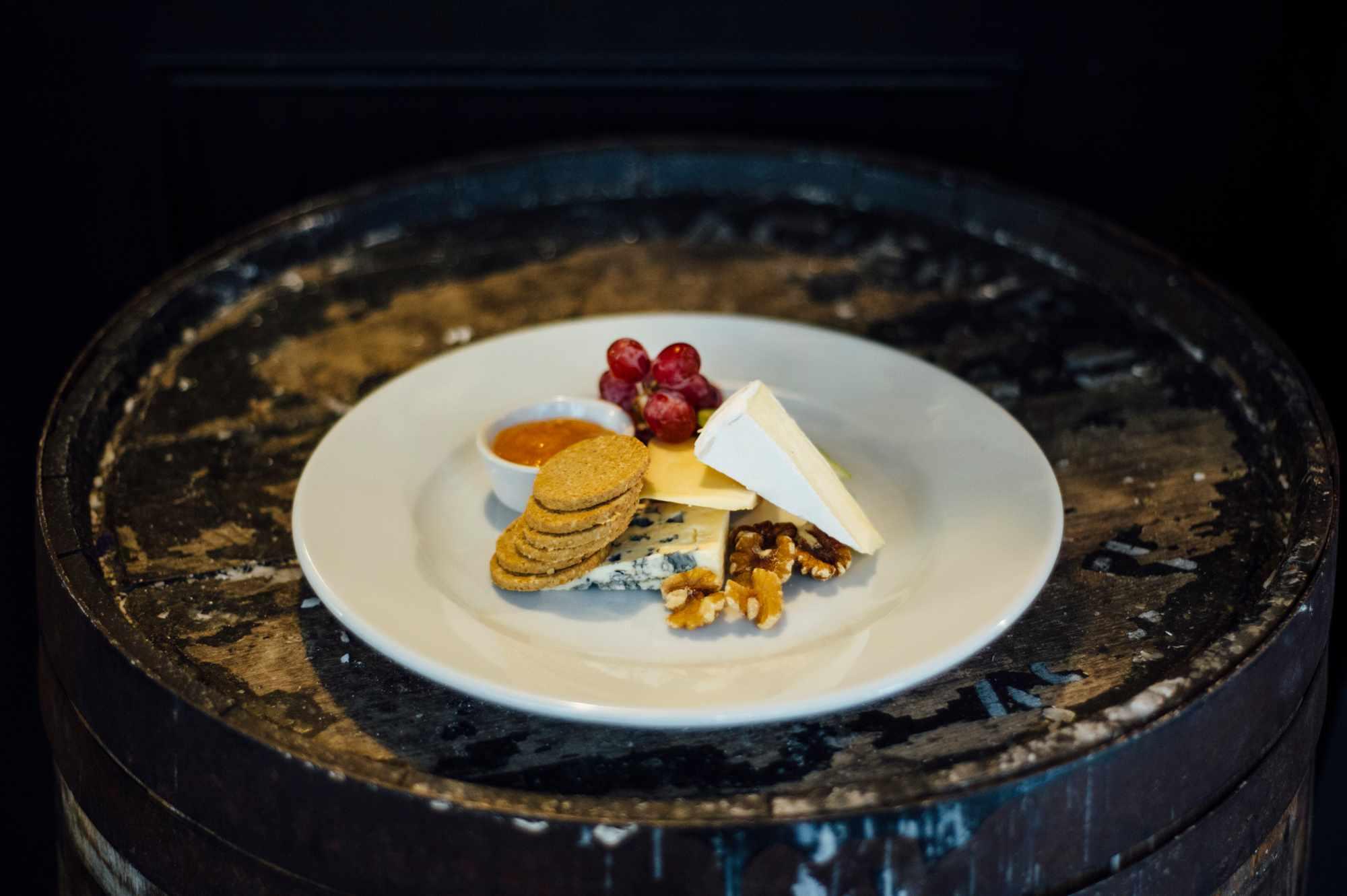 Cheese plate at Good Brothers restaurant, Edinburgh