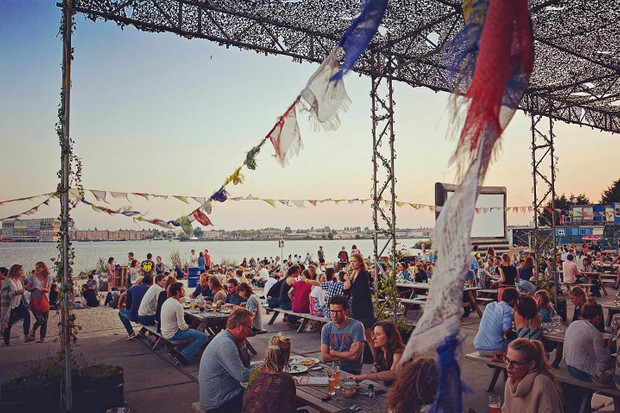 Soak up the sun at beach bar and restaurant Pllek