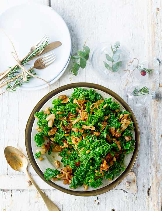 Kale Salad Recipe With Golden Raisins