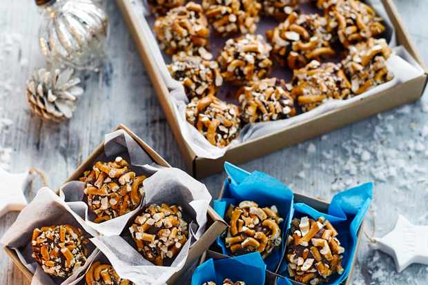 Peanut Butter Truffles Recipe Peanut Butter Truffles Recipe boxed up and ready to be gifted