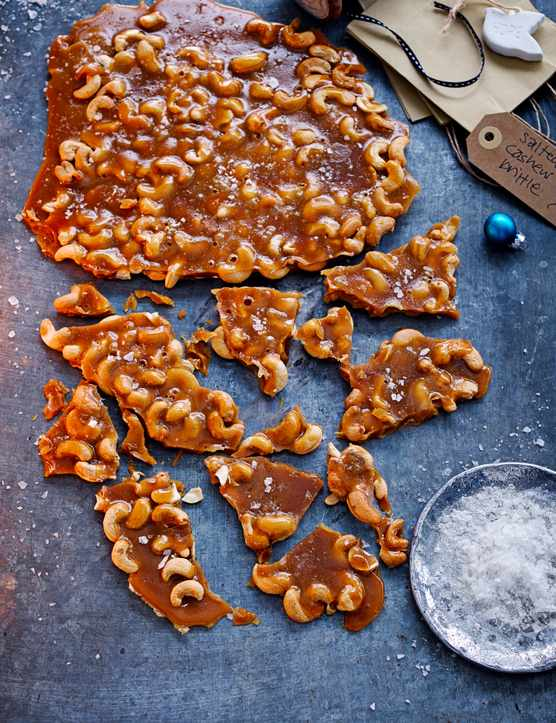 Salted Cashew Brittle Recipe