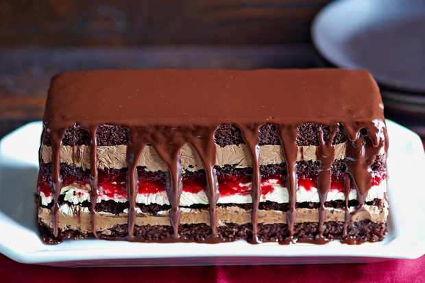 Chocolate, Peanut Butter And Jam Terrine Recipe