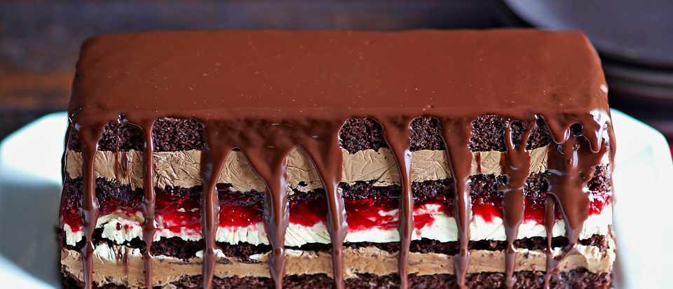 Chocolate Terrine Recipe with Peanut Butter and Jam