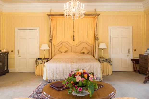 A photo of a master suite at Glenapp Castle, Scotland