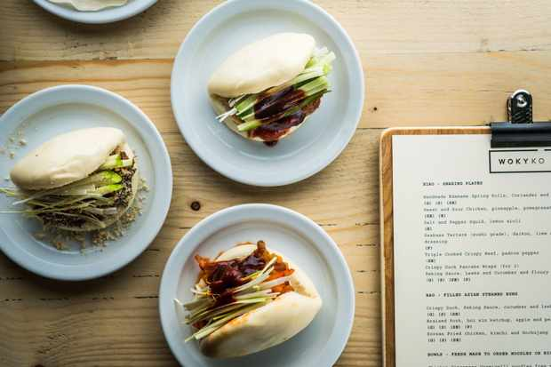 Filled with crispy duck, peking sauce, leeks and cucumber