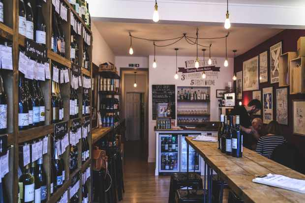 Vino Vero, wine shop stacked high with bottles