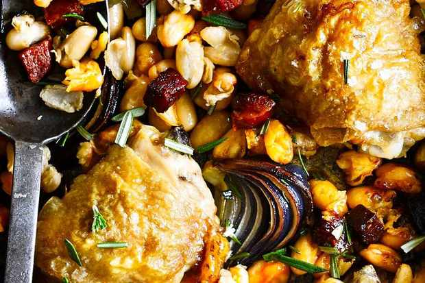 One-pot chicken with cannellini beans and chorizo