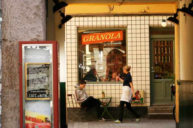 Exterior shot of Granola cafe, Copenhagen