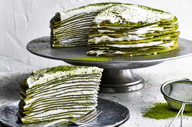 Matcha Mille Crepe Cake Recipe (Plus How To Video)