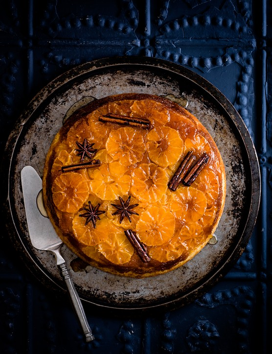 Spiced clementine upside-down cake
