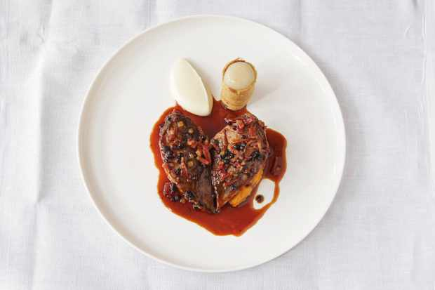 roast-grouse-with-celeriac-and-pear-puree-autumn-spring-roll-and-elderberries