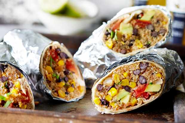 Black bean burritos - best quinoa recipes
