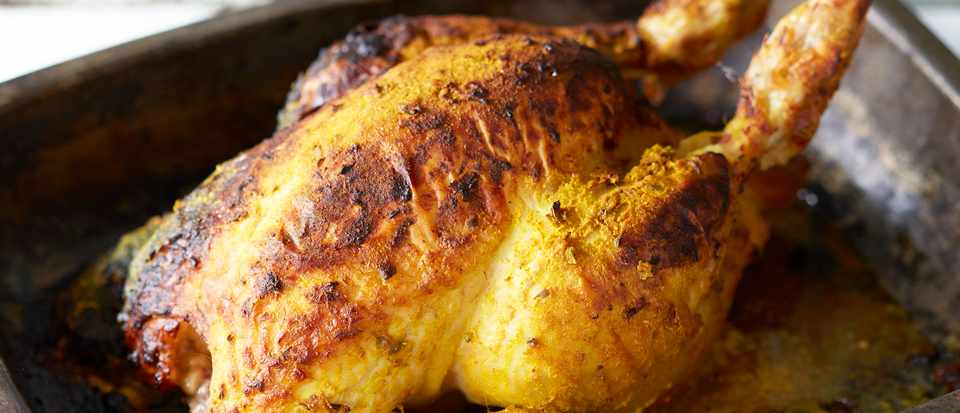 Roast Chicken With Spicy Yogurt Marinade