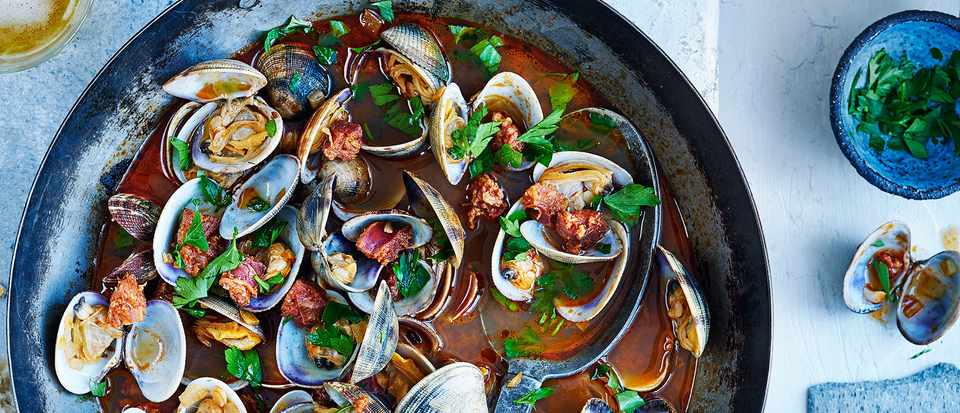 Clams Recipe With Chorizo And Beer