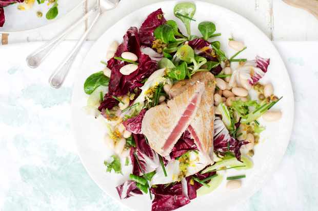 Seared Tuna Recipe With Radicchio Salad