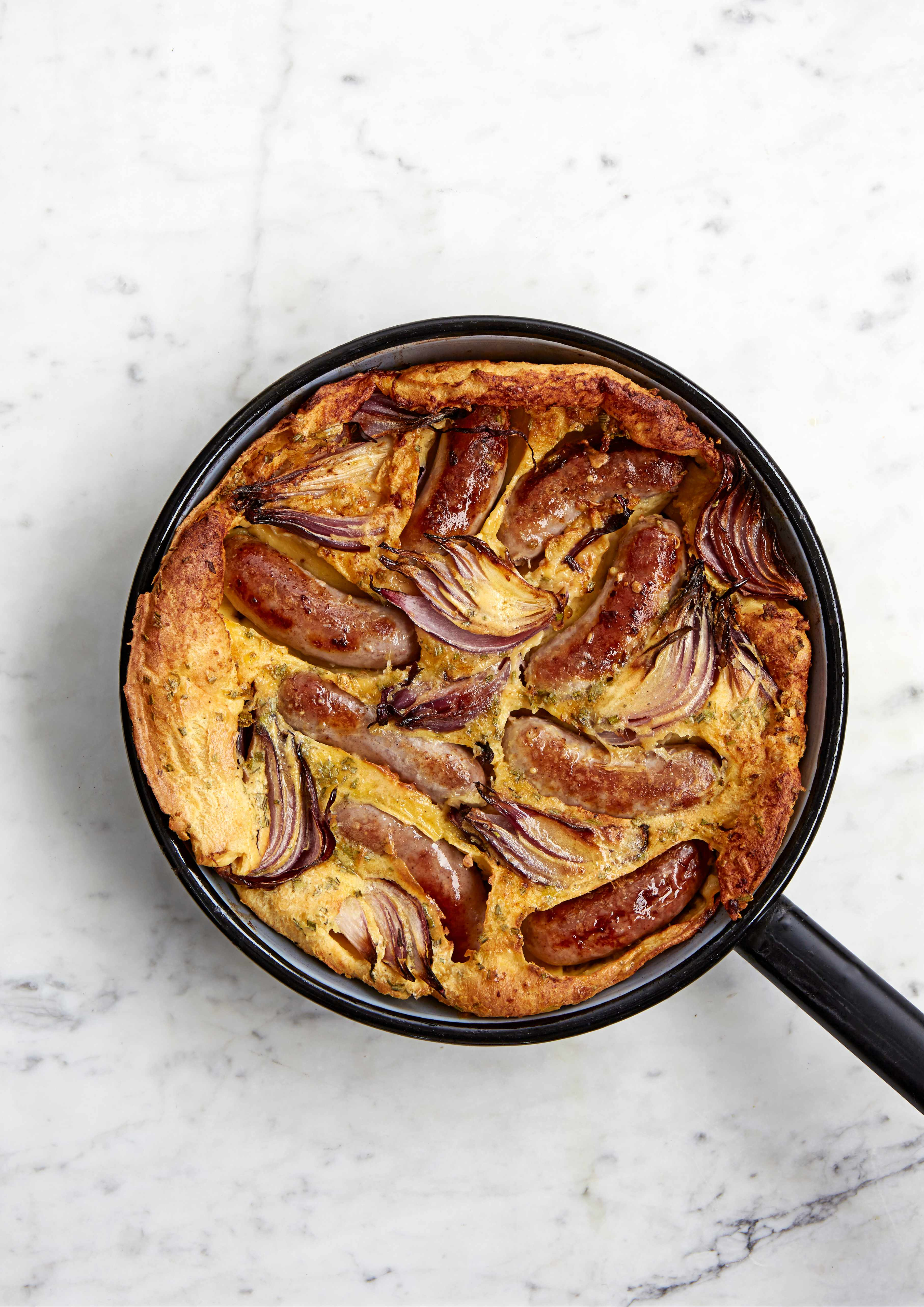 Toad In The Hole Recipe With Roast Red Onions