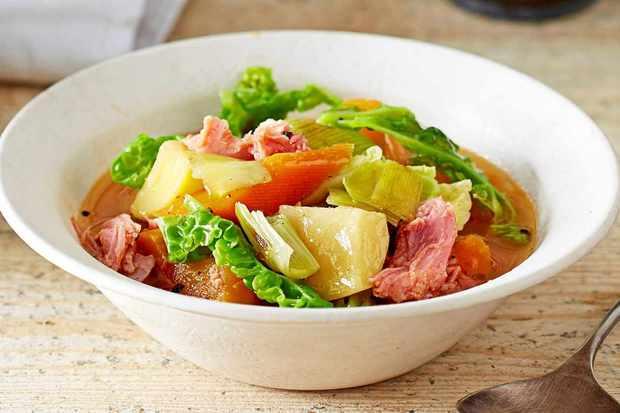 ham hock and veg stew