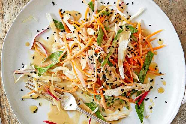 shredded chicken salad