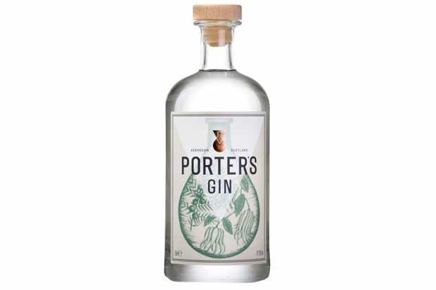 Porter's Gin Bottle