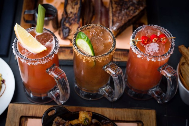 Bloody Marys at Hotbox London