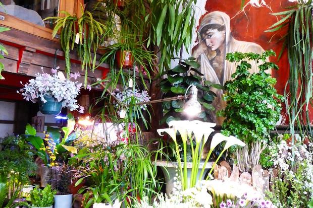 Florist on La Rue de la Grange aux Belles in Paris