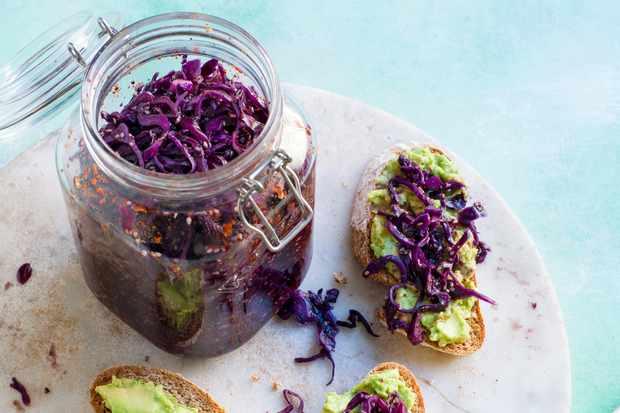 Red Cabbage Kimchi Recipe