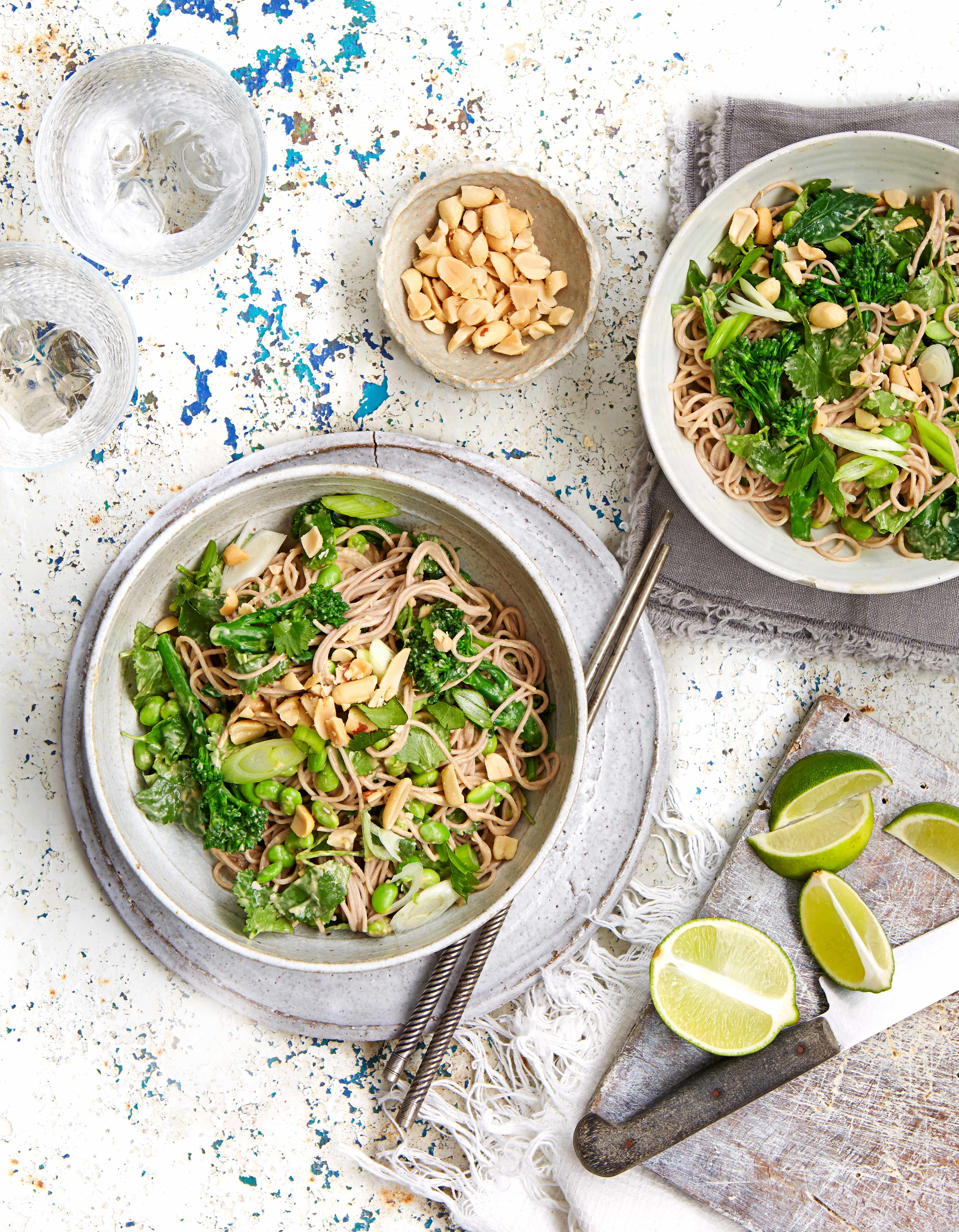 Soba Noodle Recipe with Broccoli and Peanuts