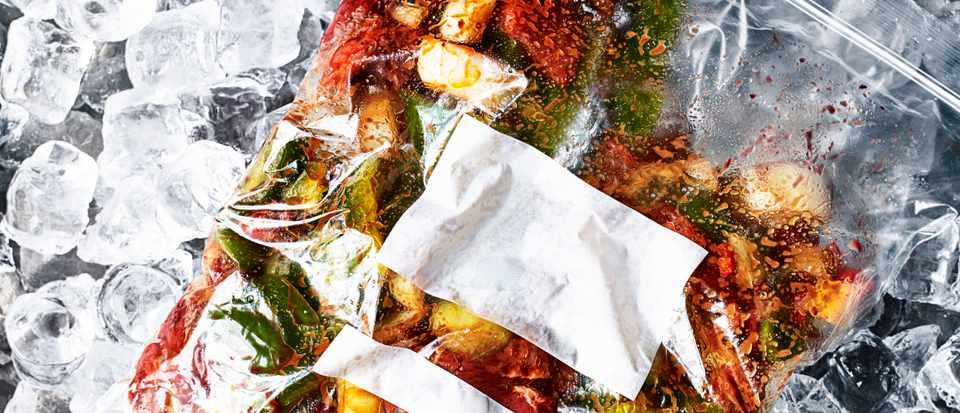 Dump bag for a freezer
