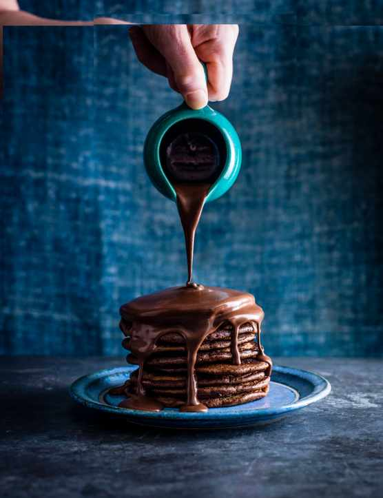 Nutella Pancakes With Hot Chocolate Sauce (Plus How To Video)