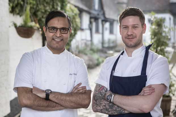 Chefs Atul and Ross, Hawkyns restaurant