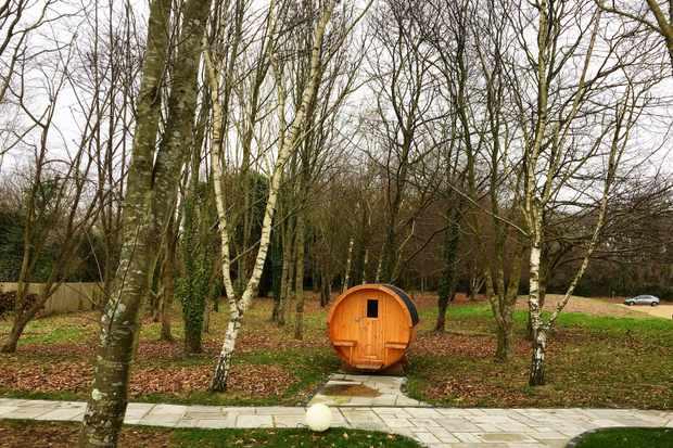 Barrel Sauna at Tinwood Estate Lodges, Chichester