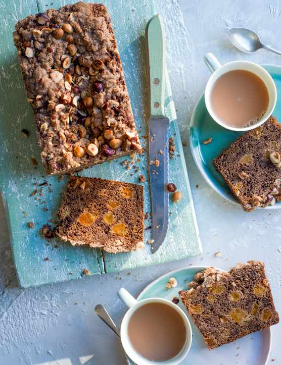 Banana Loaf With Teff, Apricot and Tea