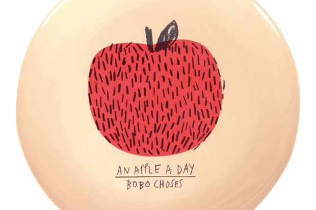 Red apple melamine plate