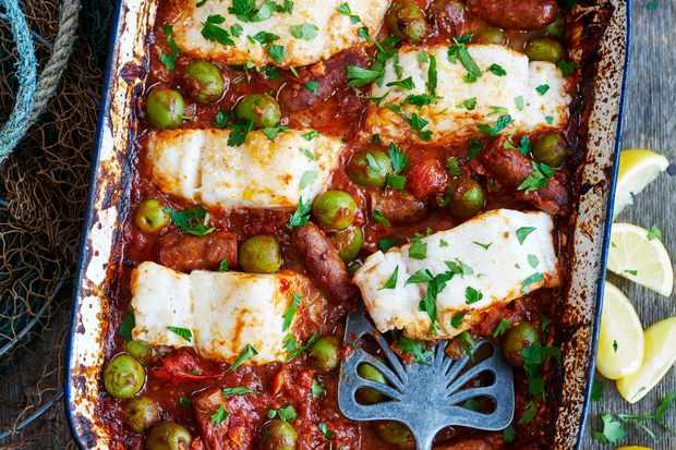 Merguez Sausage Recipe with Cod and Harissa Sauce
