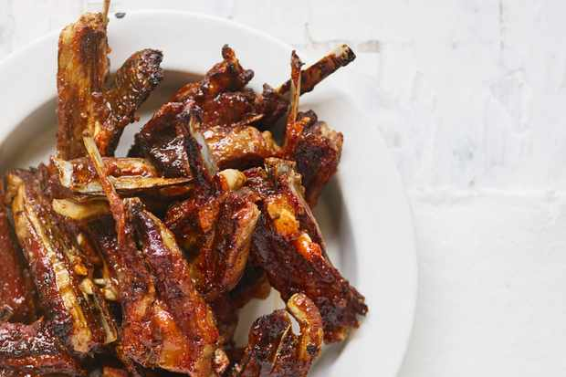 Lamb ribs with membrillo glaze