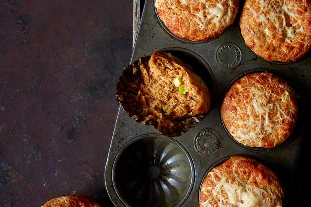 Gruyère, Spring Onion and Marmite Muffins