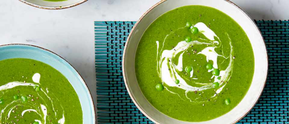 Green Soup Recipe with Pea And Spinach
