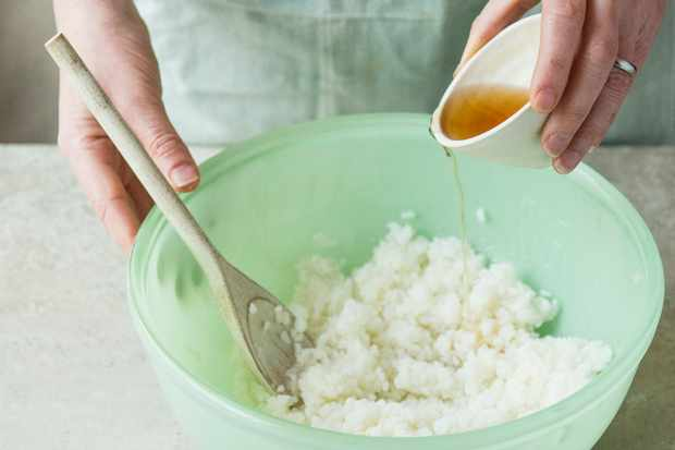 Step 1: Making the rice filling