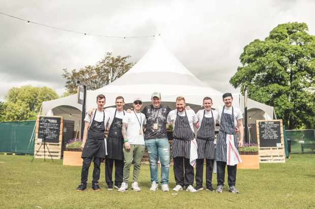 All the chefs at Pub in the Park