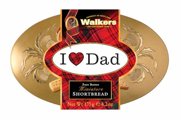 Walkers Shortbread I Love Dad Tin