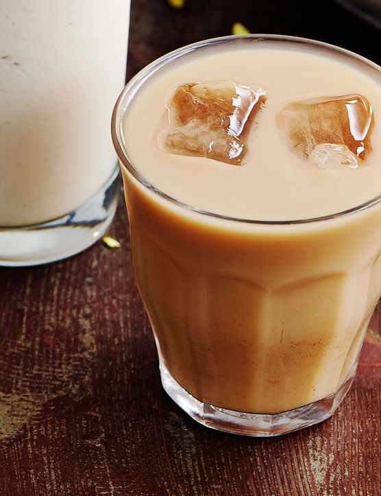 Iced hazelnut chai