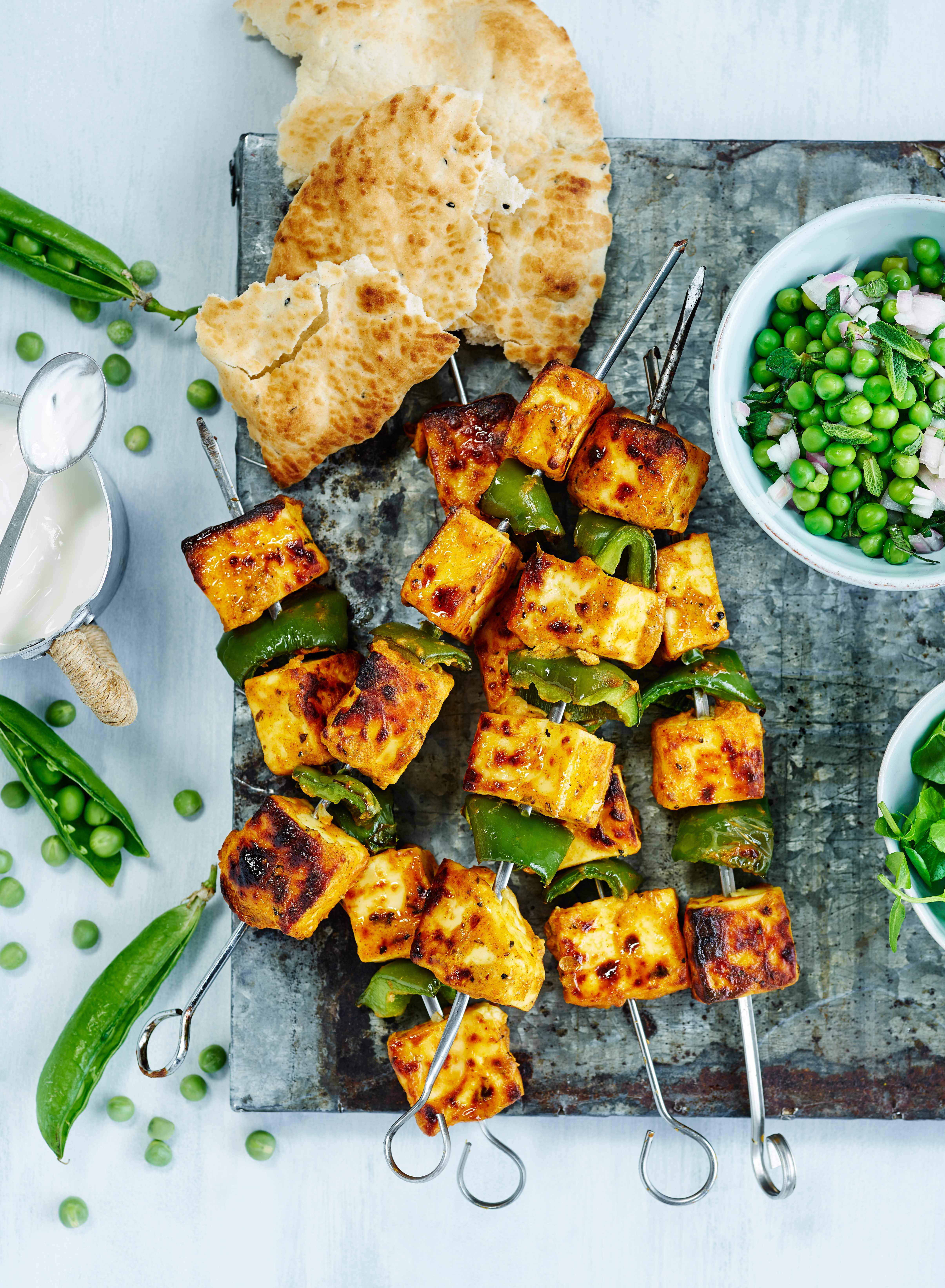 Paneer Tikka Recipe with Pea and Mint Relish