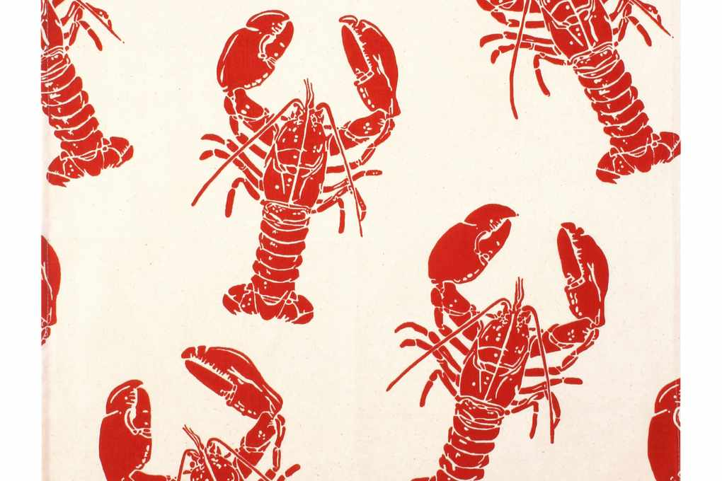 Lobster cotton tea towel. ulsterweavers.com