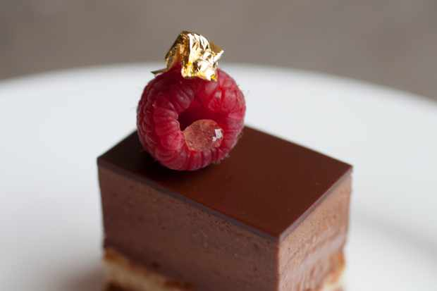 Castle Howard Afternoon Tea chocolate and raspberry layered cake © Victoria Harley