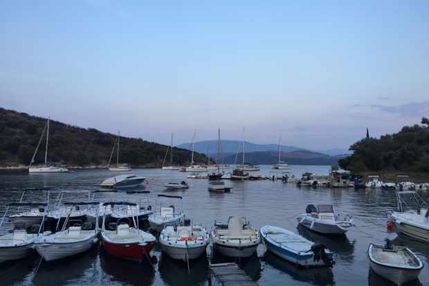 Corfu harbour