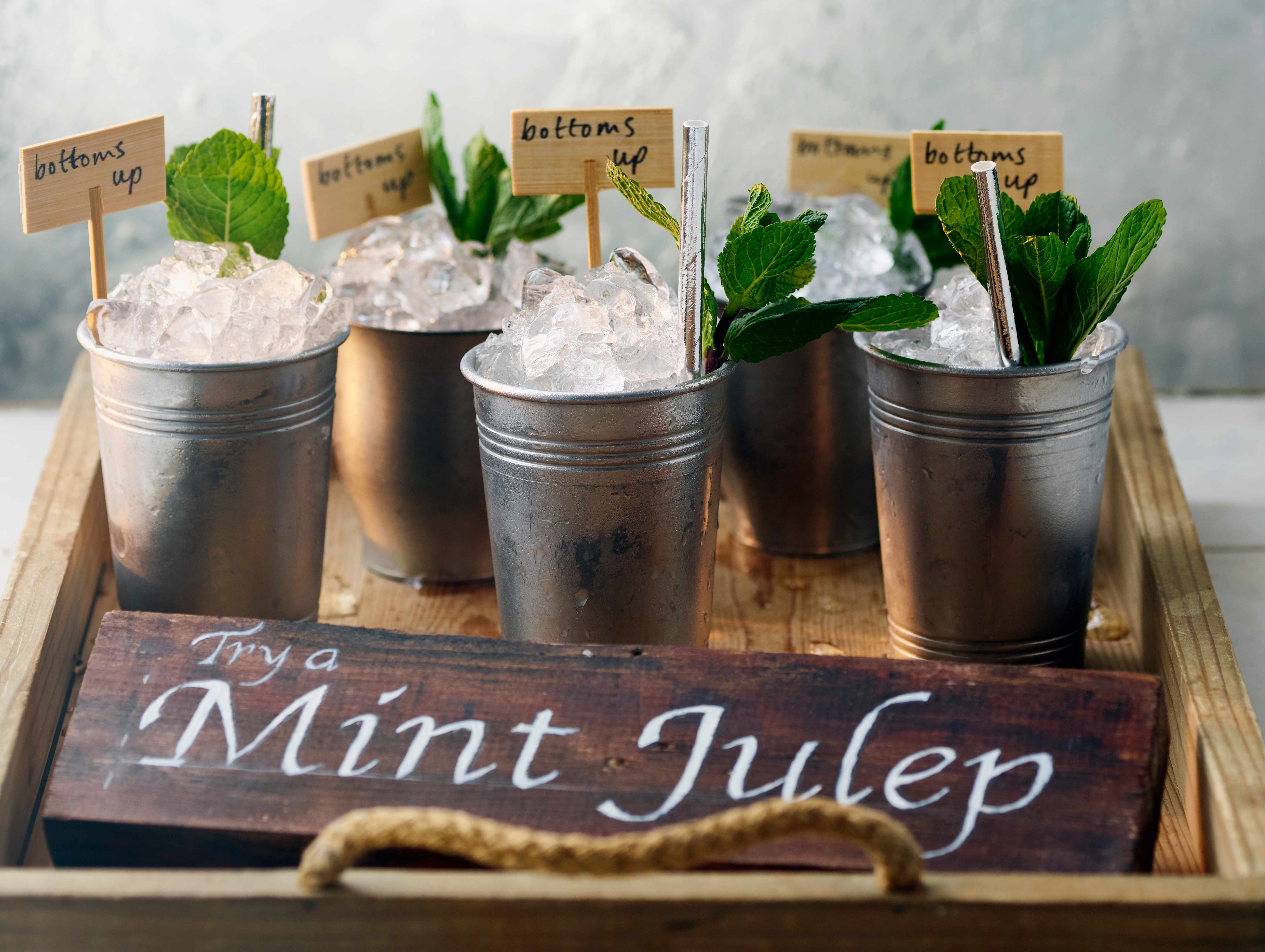 Peach and Mint Julep