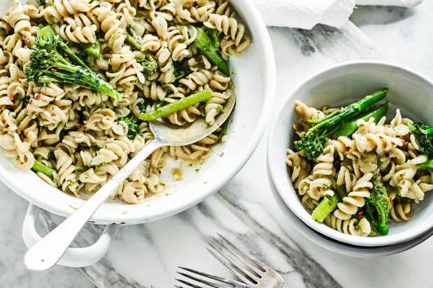 One Pot Pasta Recipe With Anchovies and Tenderstem Broccoli