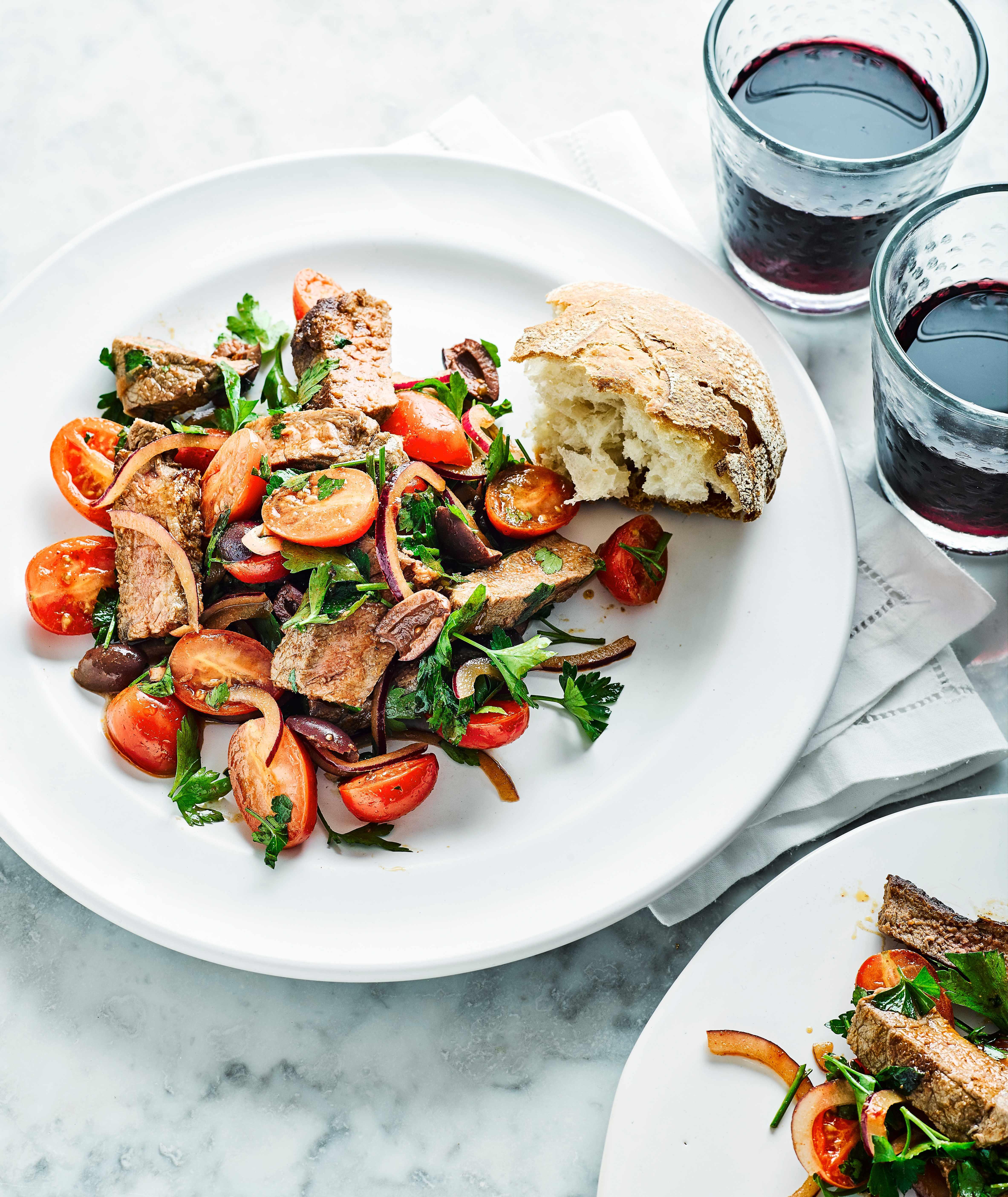 Steak, Tomato and Olive Salad Recipe